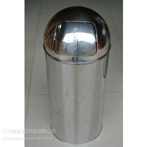 供应push推盖不锈钢垃圾桶 圆形农行垃圾桶 电网 电信 移动垃圾桶