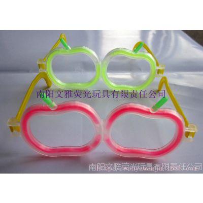 玩具厂家批发苹果发光眼镜荧光眼镜(不含荧光棒)热销特价批发