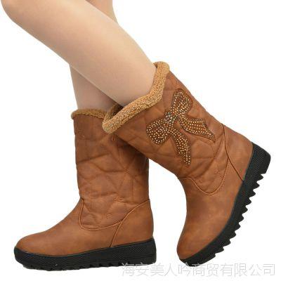 2012冬季新款雪地靴正品公主女靴学生雪地靴中跟中筒靴