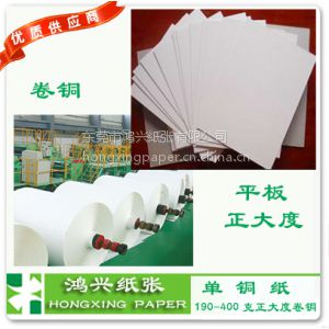 供应单铜纸450g克宁波铜版纸450g克单铜纸|单粉纸 2014***优惠