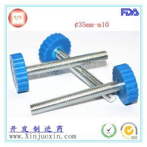 供应直纹手拧螺丝、胶头螺丝、包胶螺丝、手柄螺丝m10