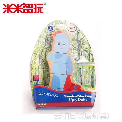 外贸木质花园宝宝系列早教益智木制玩具  2D比古巴古木制人偶