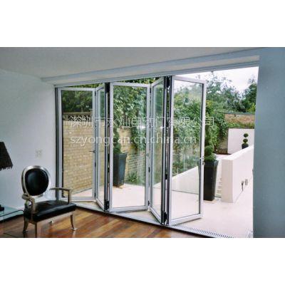 供应玻璃折叠门销售 深圳手动折叠门价格 铝框玻璃折叠门