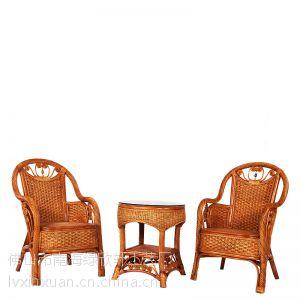 珠海藤木家具厂家直销 真藤藤椅茶几三件套 藤制户外家具 客厅休闲椅子 阳台藤木桌椅组合9030
