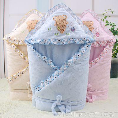 婴之友婴儿超柔抱被新生儿包被宝宝珊瑚绒春秋冬加厚抱毯
