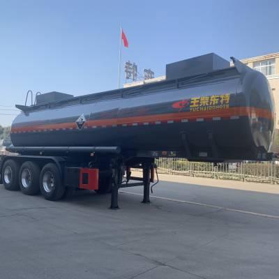 供应硫酸腐蚀性物品罐式运输半挂车