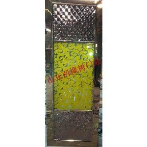 供应KTV金色艺术玻璃门