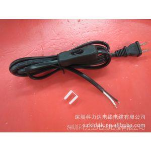 供应美标插头电源线 美式三插尾部上锡电源线