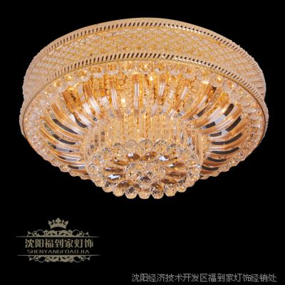 厂家直销LED低压大水晶黄色奢华圆形水晶灯 客厅酒店灯