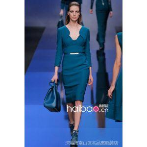 供应2013欧美外贸原单 秋冬新款罗马针织拼接长袖修身连衣裙 一件代发