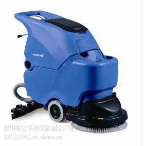 供应常州全自动洗地机工厂用 容恩手推式洗地机R50B 全自动洗地机价格