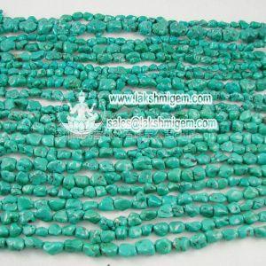 供应天然绿松石随形籽