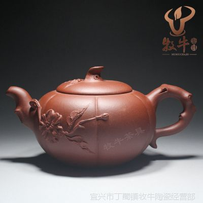 荔段树桩壶360ml 正宗原矿清水泥 宜兴紫砂茶壶茶具 厂家批发直销