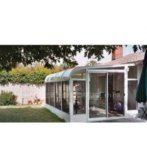 供应花园圆弧钢化玻璃阳光房 ,节能门窗