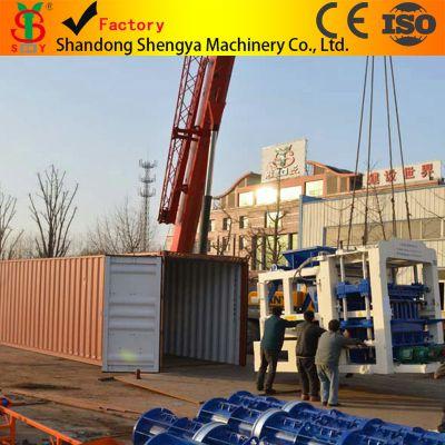 QT10-15全自动液压空心砖机机生产线 全套水泥砖机设备出口非洲