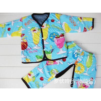 供应婴幼儿【60公分】花色棉衣 棉袄 套装(3号)