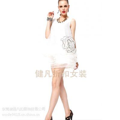 供应品牌折扣女装连衣裙 大牌时尚新品折扣连衣裙 正品女装低价批发