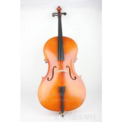 供应4/4大提琴 拉弦类乐器 哑光 实木配件 乐器批发