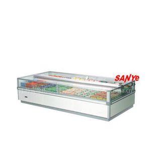 供应A型双出风岛柜 速冻食品展示柜 海鲜柜