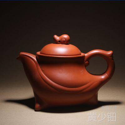 紫砂壶批发厂家直销 宜兴紫砂茶壶红神曲190毫升 上千款全店混批