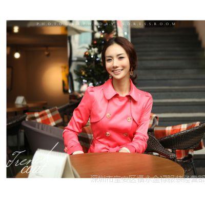 秋冬装新款高气质女装韩版修身长款秋冬外套女式风衣