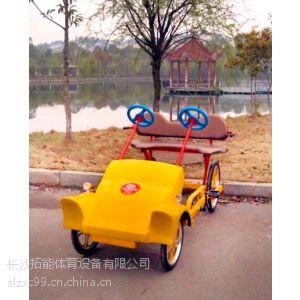 供应供应四轮自行车/森林人带蓬联排双人自行车情侣车双人车休闲车二人车 两人自行车
