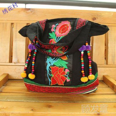 厂家批发云南民族风包包 女款旅游包 刺绣花帆布女包 单肩包
