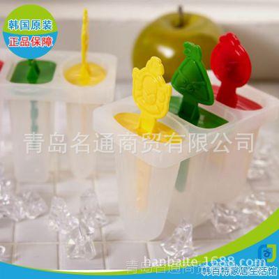 韩国正品愤怒小鸟冰盒雪糕模具6P 冰棍冰格冰模带盖自制冰棒块盒
