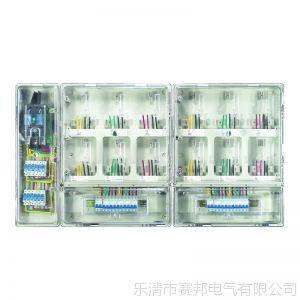 供应防窃配电箱 单相十二位电表箱 小区透明12户电表箱