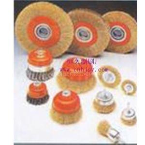 供应钢丝轮 轮对机出锈钢丝轮 铜丝钢丝刷 压片式钢丝刷