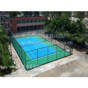 供应东莞彩色丙烯酸网球场地铺设/网球场地面效果设计批发/的材料***的施工团队