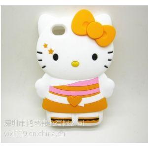 供应kitty猫裙子系列 iphone4/4S手机套 硅胶手机套 火热销售中