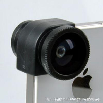 手机周边iPhone4苹果4S手机配件三合一鱼眼镜头广角镜头微距镜头