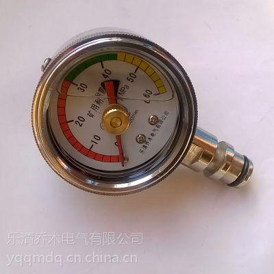 综采支架压力表双针记忆耐震压力表BZY-60插杆式连接60MPa