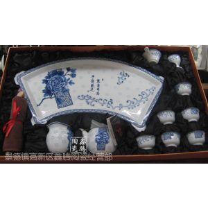 供应景德镇茶具,青花功夫茶具,纯手工茶具,礼品贴花批发茶具