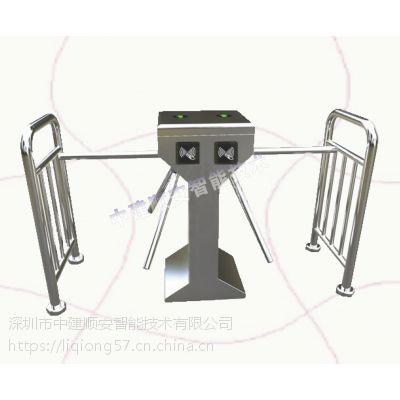 中建顺安定制立式带护栏双机芯三辊闸