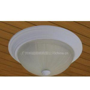供应13寸玻璃吸顶灯 铁艺灯具 欧美风格灯具、广州铁艺吸顶灯