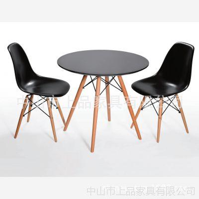 上品家具厂家直销深圳【SP-GT188】美式实木脚咖啡桌 咖啡馆休闲吧桌子