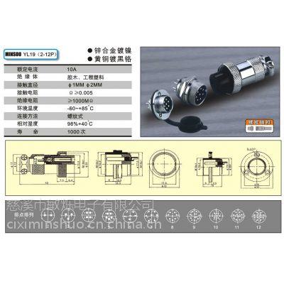 供应专业生产航空插头,厂家直销YL19系类