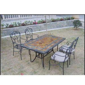 供应专业定做户外花园,沙滩桌板岩文化石桌面