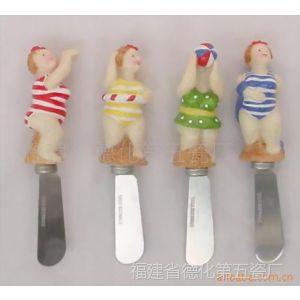 供应树脂手柄奶油刀,餐具附件,陶瓷刀叉