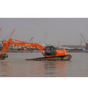 供应挖掘机清理河道海港码头臂不够长怎么办/用什么加长臂/挖掘机加长臂清理