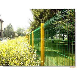 供应桃型柱护栏网价格/小区围栏网/浸塑护栏网/铁丝网围栏