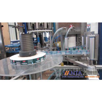 供应热熔胶贴标机-24头-36000BPH-右进瓶