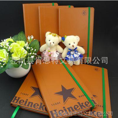 皮革笔记本 高档皮面本 促销礼品笔记本 定制logo笔记本