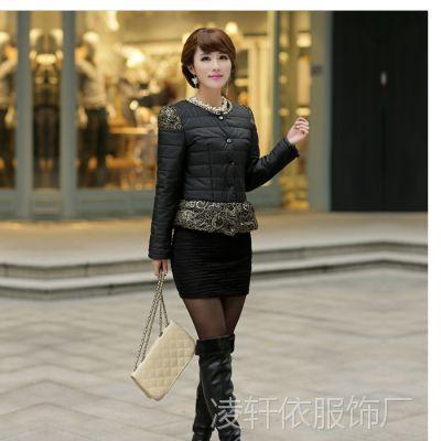 实拍  秋冬新款小短款棉衣韩版修身正品外套棉袄羽绒棉服女装