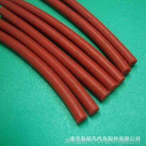 供应圆形硅胶密封条、圆棒红色硅胶密封条