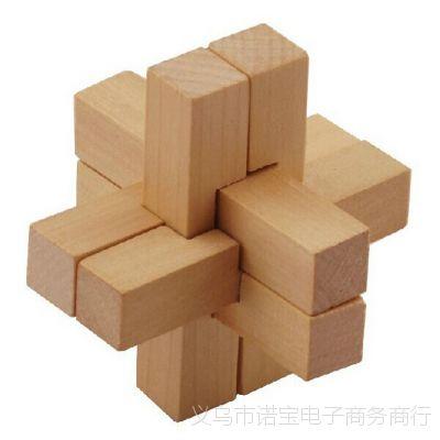 儿童早教思维逻辑6根装孔明锁鲁班锁拼装解锁 成人智力益智玩具