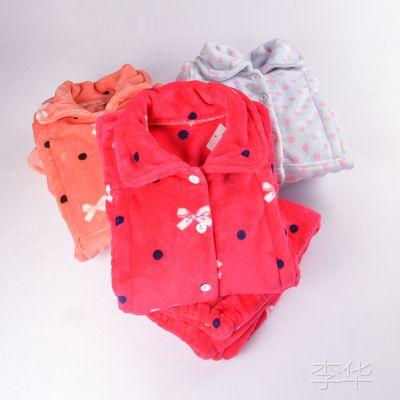 外贸原单秋冬加厚法兰绒喂奶衣产后孕妇哺乳装哺乳衣可爱月子服