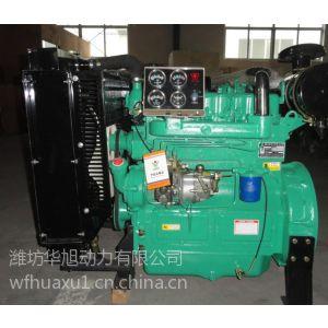 潍坊华旭4102工程机械用柴油发动机 60马力带离合器 打气泵 助力泵接口
